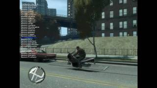 GTA IV Bike Glitch Invisible wheels! (HD Sort of)