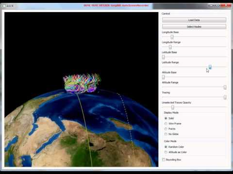 Flow Visualization on Virtual Globe