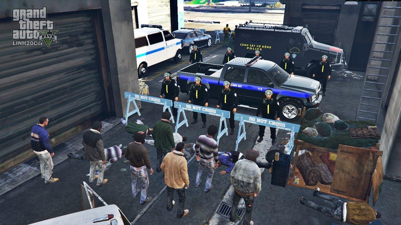 Game Cảnh Sát Cơ Động – GTA 5 CSCĐ Truy Bắt Người Nghiện Trốn Trại Nổi Loạn Thành Phố Gắt Nhất