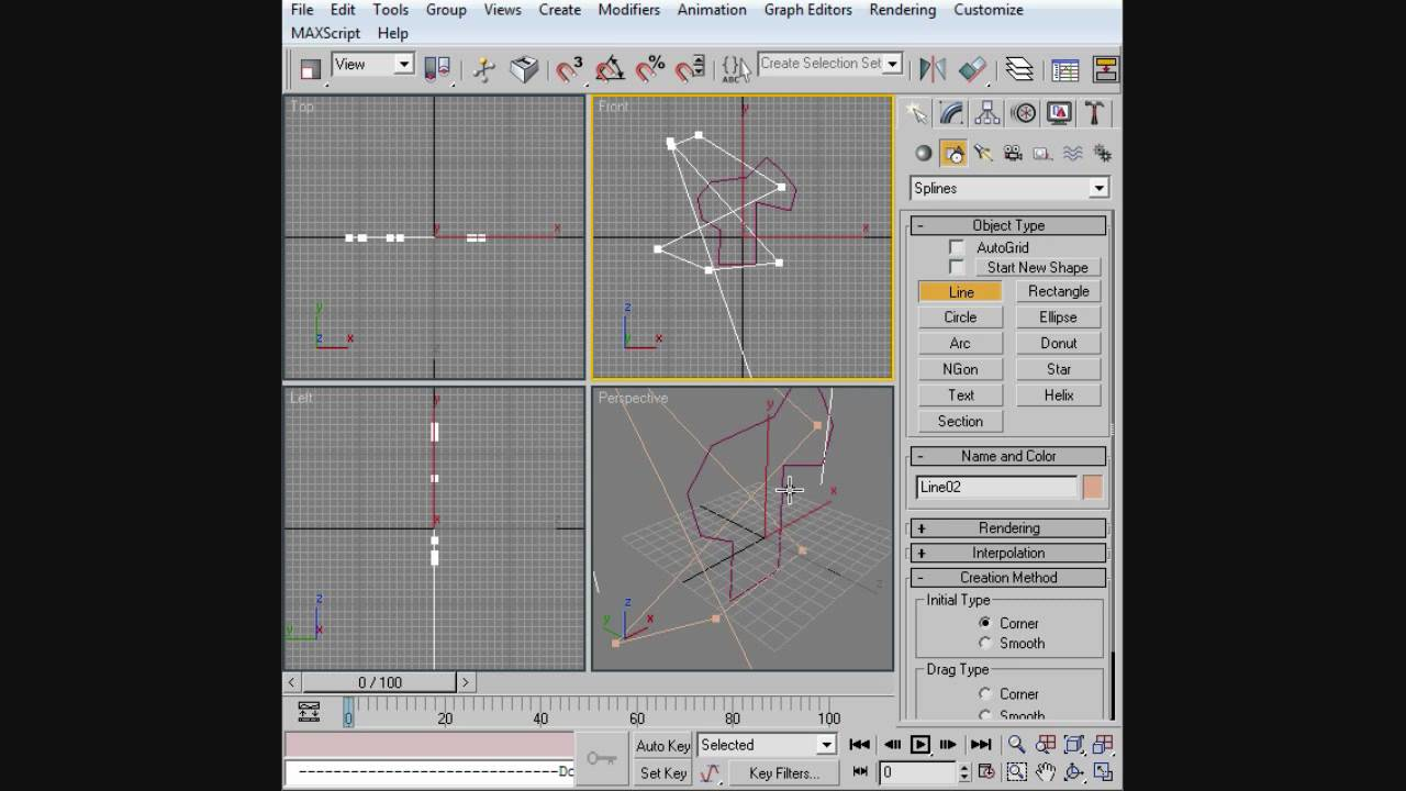 3ds max beginner tutorial splines youtube for 3ds max step by step tutorials for beginners