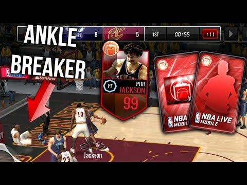 ELITE CLIPBOARD COMMANDER PULLS + 99 PHIL JACKSON IN NBA LIVE MOBILE!!
