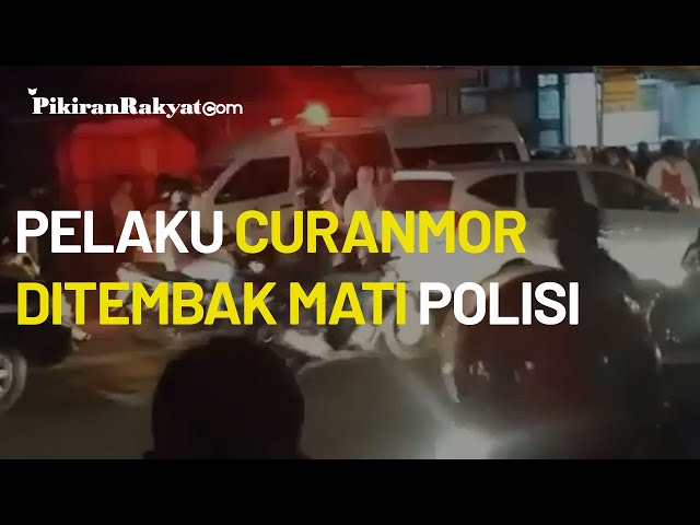 Satu Orang Pelaku Curanmor Ditembak Mati Jajaran Satreskrim Polrestabes Bandung di Cinunuk, Cileunyi