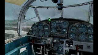 Fsx SAAB 91B Safir over Photoreal Greece