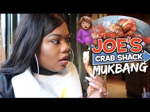 A Quick Pregnant SEAFOOD Mukbang   Hilarious! (Crab Legs, Smacking Noises, & ft. Joes Crab Shack)