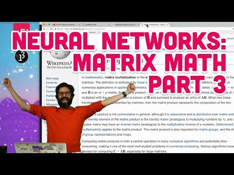 10.9: Neural Networks: Matrix Math Part 3 - The Nature of Code