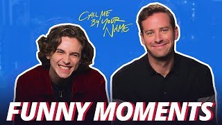 Call Me by Your Name Bloopers Funny Moments - Armie & Timothée