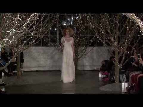 Jenny Packham Bridal SS14 catwalk video - New York
