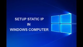 How to Setup Static IP In Wind…
