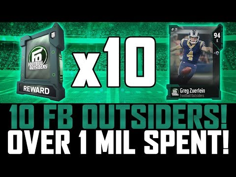 RIPPIN 10 FOOTBALL OUTSIDERS PACKS! | INSANE PROFIT OR NAH? | MUT 18