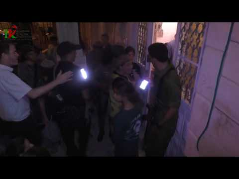 Hundreds of Jewish settlers storm into the Rugby family home