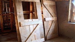 Strawbale Vlog 57 - drzwi drewniane z desek - część 1 - konstrukcja