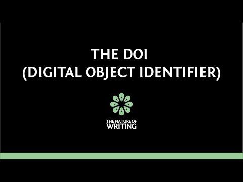 DOIs (Digital Object Identifiers)