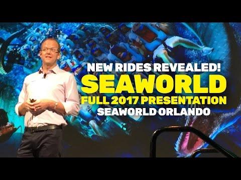 NEW ATTRACTIONS REVEALED: SeaWorld Orlando 2017 Full Presentation