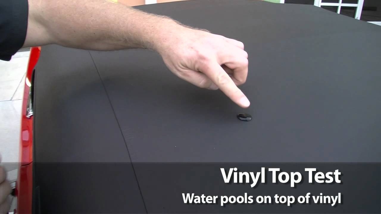 How To Test For A Vinyl Convertible Top Youtube