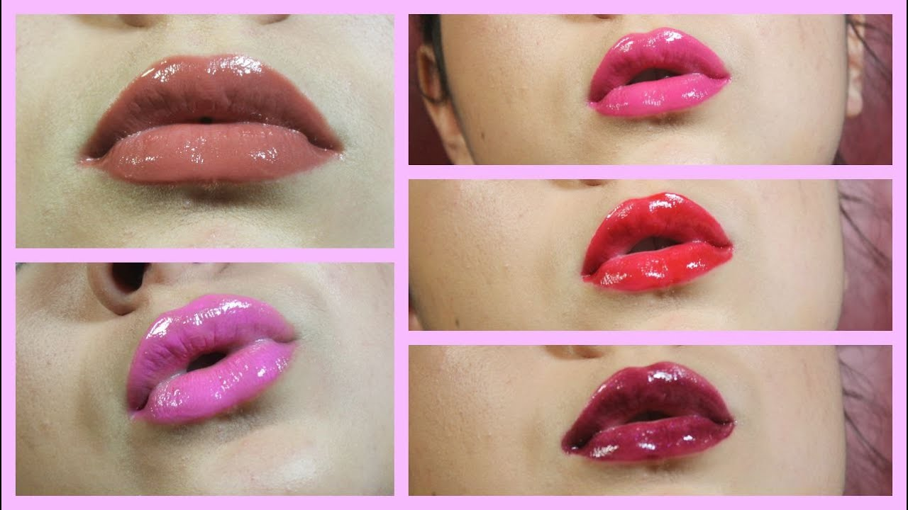 L A Colors High Shine Shea Butter Lip Glosses Swatches