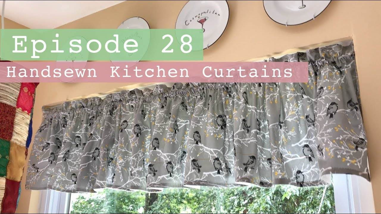 Patterns For Kitchen Curtains And Valances How To Sew A Curtain Valance Easy Curtains Sewing Curtains
