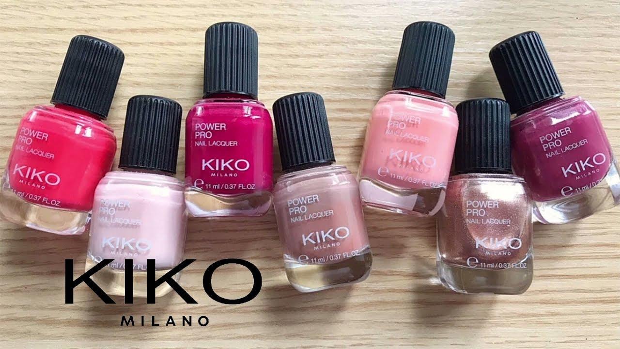 Kiko Power Pro Nail Lacquer Swatches - YouTube