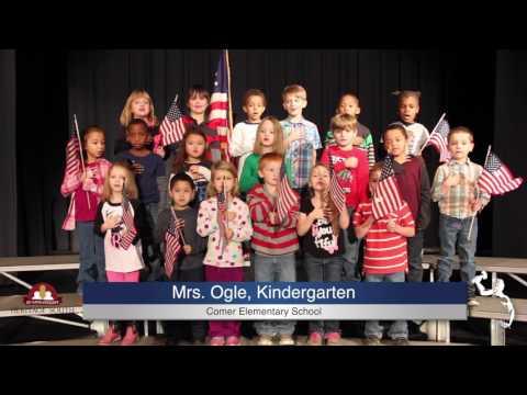 Pledge of Allegiance - Mrs. Olge - K5 - B.B. Comer Elementary School