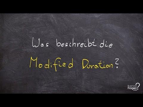 Investmentfonds | Was beschreibt die Modified Duration?