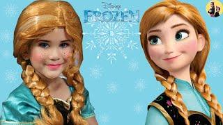 Anna wears the Princess Dress and Make Up / Abby Pretend Play Princess MakeUP/DressUp  frozen 2