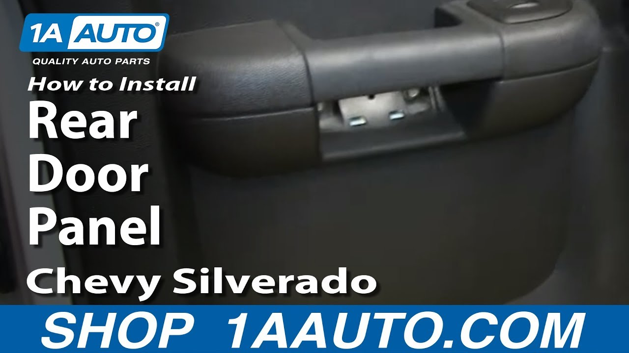 How To Install Remove Rear Door Panel 2007 13 Chevy