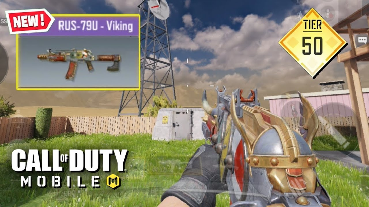 New Unlocking The Rus 79u Viking Skin In Call Of Duty Mobile Tier 50 Battle Pass Gun Youtube