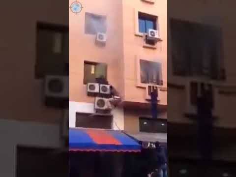 Escape From Fire Accident Live Video