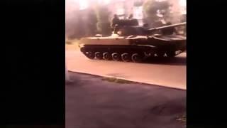 Танки в городе новости Донецк Луганск Украина Шахтерск юго восток сегодня Горловка АТО