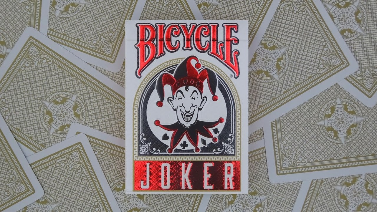 Bicycle Joker Playing Cards Deck Review Display
