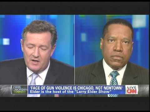 Piers Morgan - (D) Sen. Murphy CT - Larry Elder. On Gun Control