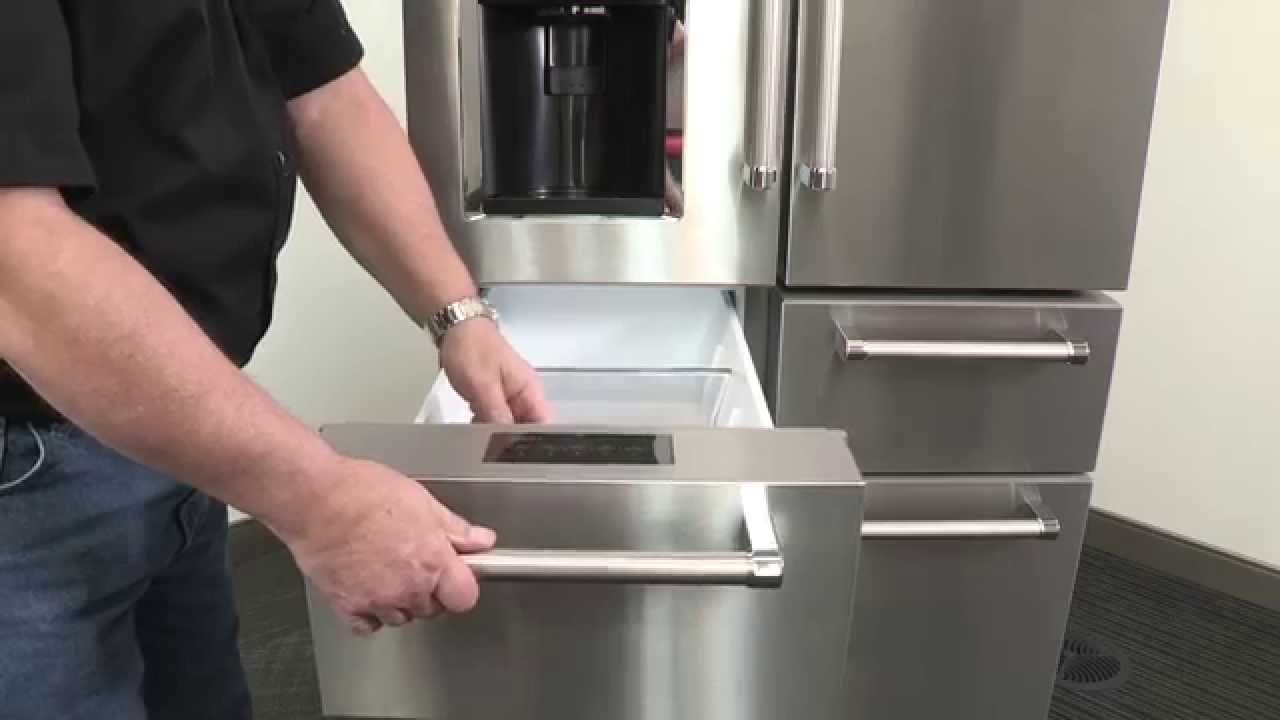 How To Removing the Pantry Doors on Your FiveDoor KitchenAid Cameo Refrigerator  YouTube