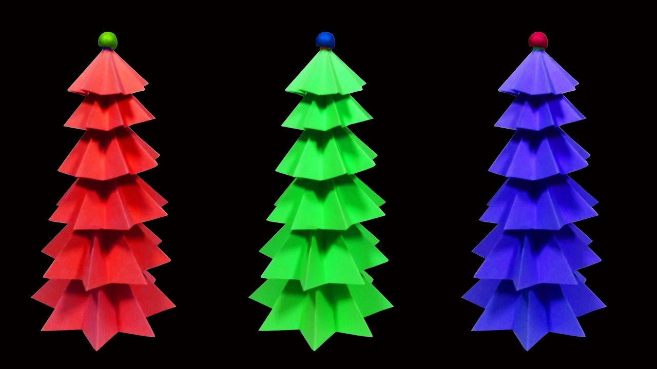 How To Make A Beautiful and Colorful Paper Christmas Tree (Christmas ...