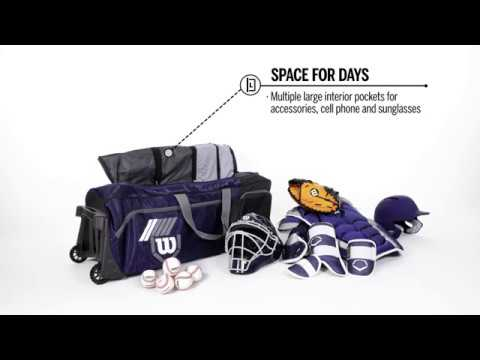 Wilson Pudge 2.0 Bag, Fits Helmets, Gloves, Cleats, And Catcher's Gear