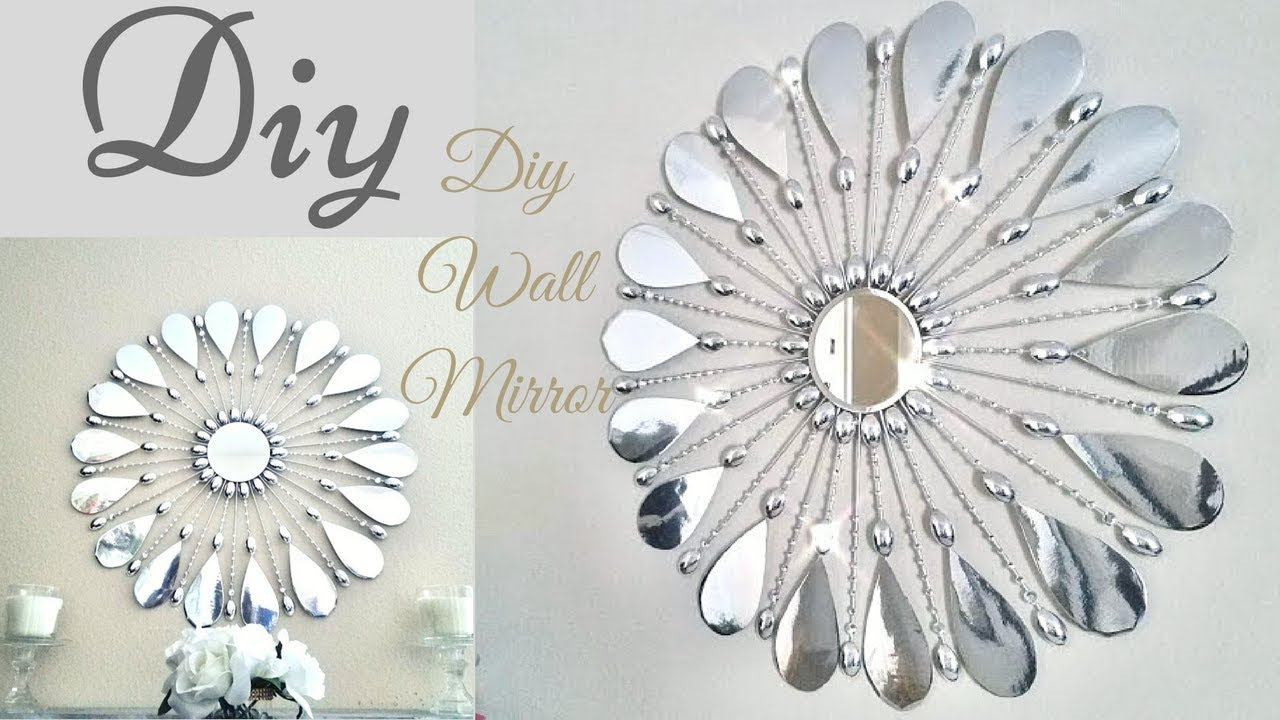 Diy Simple and Inexpensive Glam Wall Mirror Decor! - YouTube