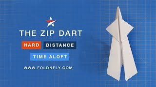 Fold 'N Fly ✈ The Zip Dart Paper Airplane