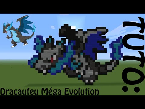 Minecraft Pixel Art Dracaufeu Méga évolution Youtube