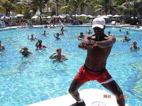 Riu Palace Punta Cana. Water gymnastics. Dominican Republic
