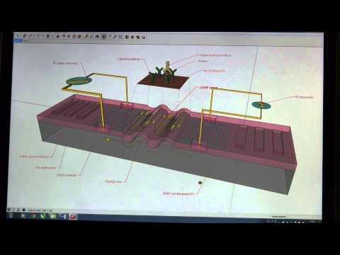 3D illustration of SAW sensors