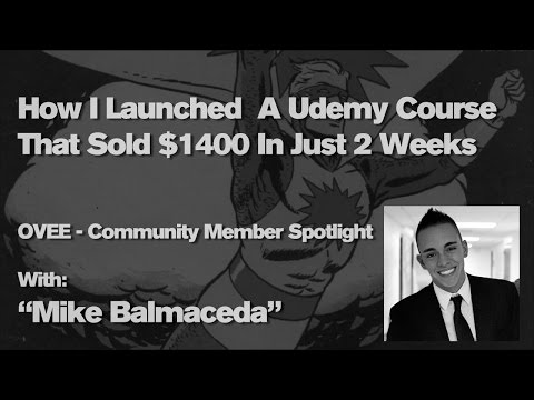 Udemy - How I Launched  A Udemy Course That Sold $1400 In Just 2 Weeks
