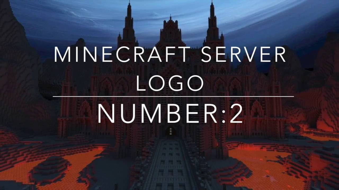 Minecraft Free Server Logo (Template) - YouTube
