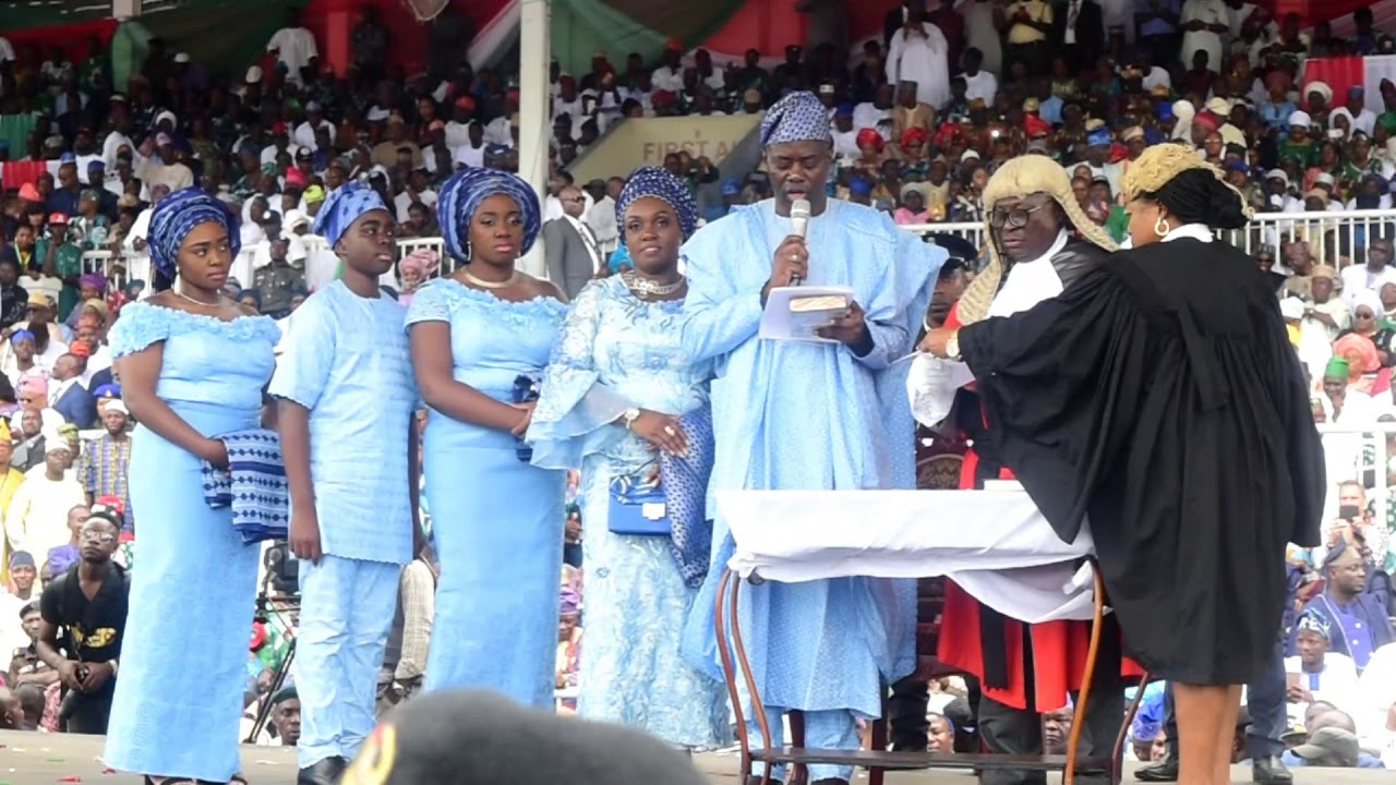 Image result for makinde sworn in as governor