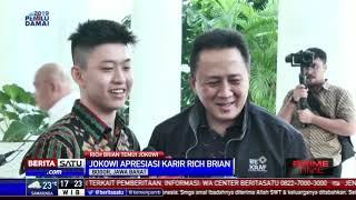 Rapper Kelas Dunia Rich Brian Bertemu Jokowi di Istana Bogor