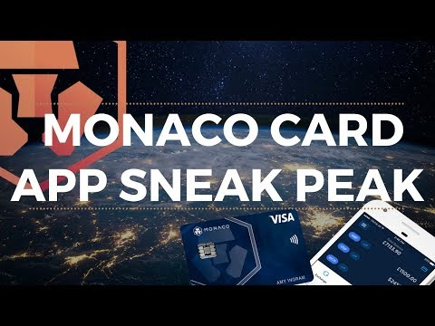 MONACO CARD APP REVIEW - MONACO WALLET 2018