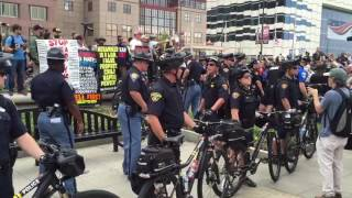 Bike Cops Deal With Protesters