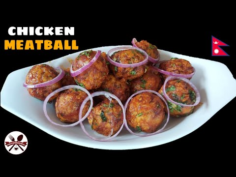 Homemade Chicken Meatball Recipe    How To Make Chicken Meatball    Meatball Recipe    F&B Nepal