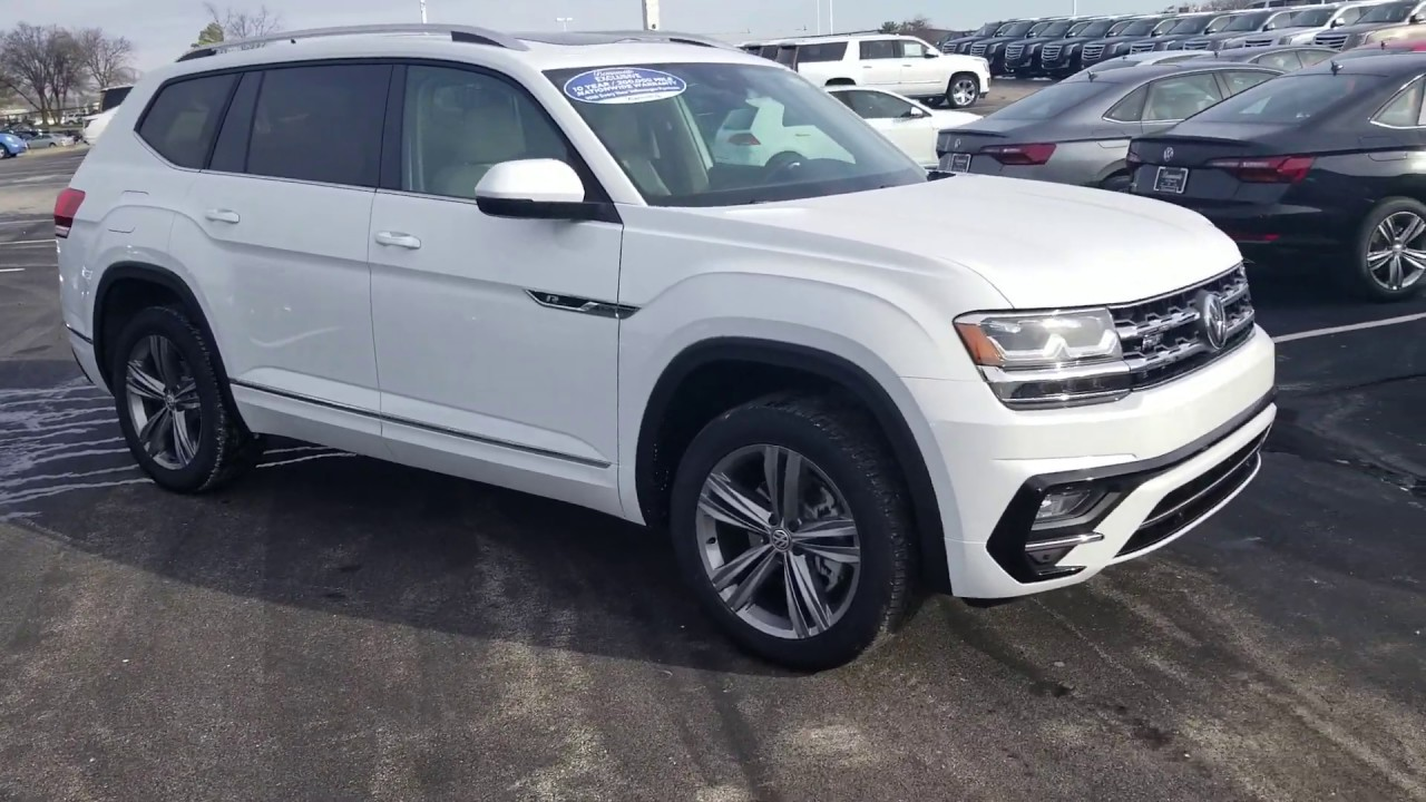 2019 Vw Atlas 3 6 Sel R Line 4motion With Captain S Chairs Youtube