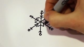 How to Draw a Cartoon Snowflake v2