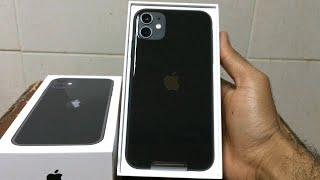 New Apple iPhone 11 (128GB) Black Unboxing