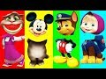 Wrong Heads Mickey Mouse Talking Tom Masha Bears Spiderman ! Finger family song nursery rhymes