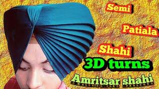 ਅਮਿ੍ਤਸਰ ਸਾਹੀ ਪੱਗ 3D/amritsar shahi dastar 3D/3D turns with details/turban king jaskarandeep singh